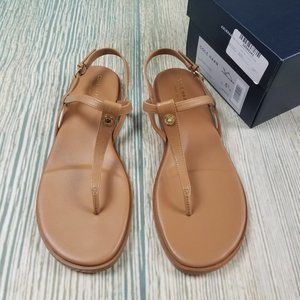 New COLE HAAN flora thong leather sandal